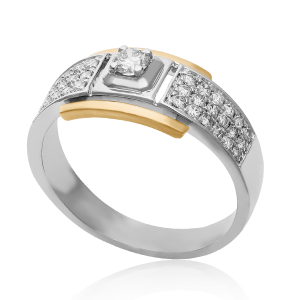 Single Diamond Groom Ring