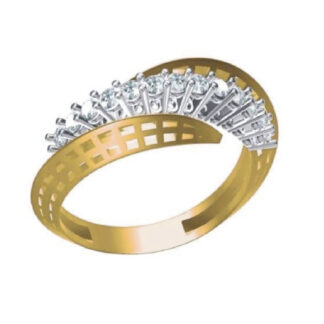 Beautiful Mesh Diamond Ring