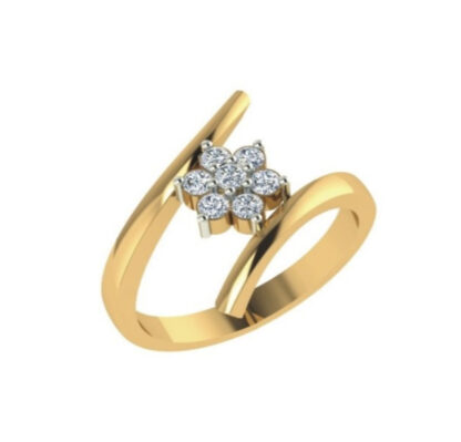 Charming Flower Diamond Ring