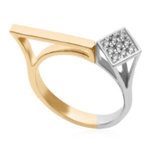 Corner Rhombus Diamond Ring