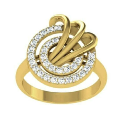 Double Rounded Diamond Ring