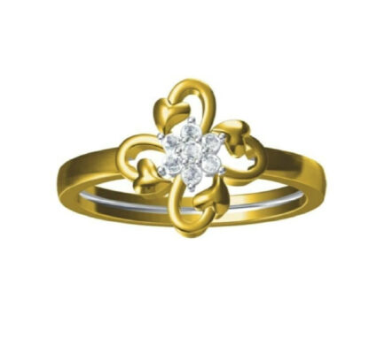 Heart Floral Diamond Ring