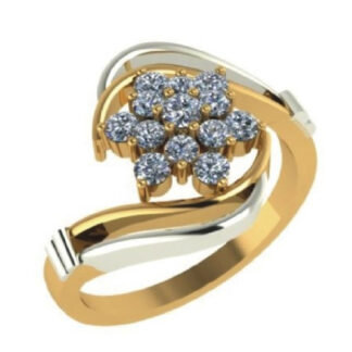 Preety Floral Diamond Ring