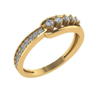 Single Link Diamond Ring
