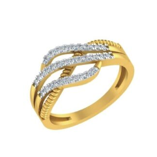 Girls Tripple Cross Ring Diamond