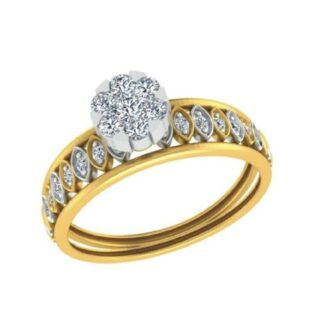 Girls Beautiful Cluster Setting Bridal Ring