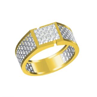 Twelve Diamond Ring Shared Prong Setting