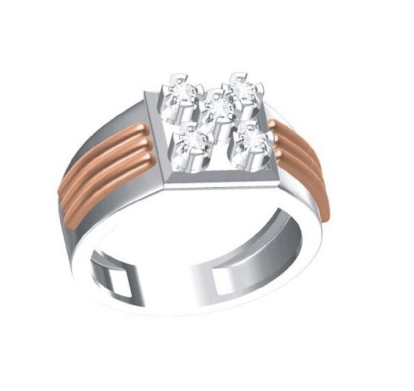 Five Diamonds Ring for Men