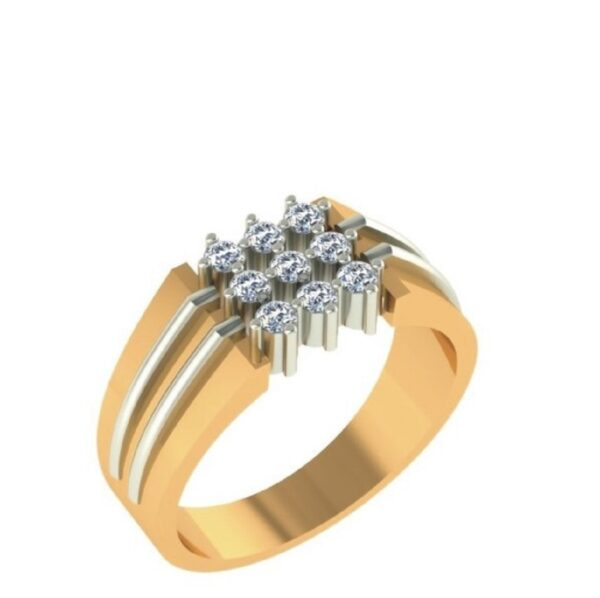 Nine Diamond Prog Setting Ring Men