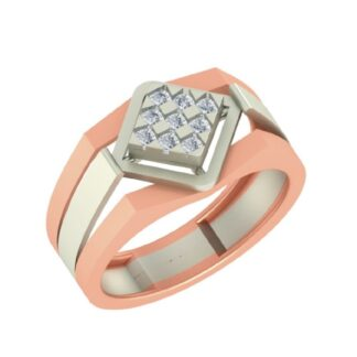 Nine Diamond Rhombus Ring Men