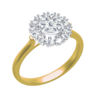 Trinagle Edge Diamond Ring