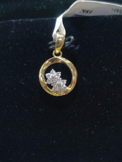 Two Star in middle of Diamond Pendant