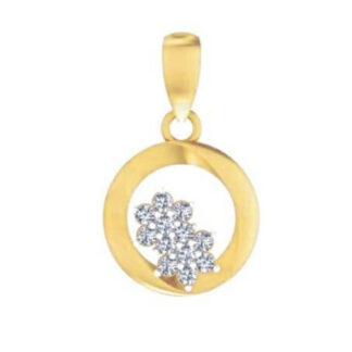 Beautiful Two Star Diamond Pendant