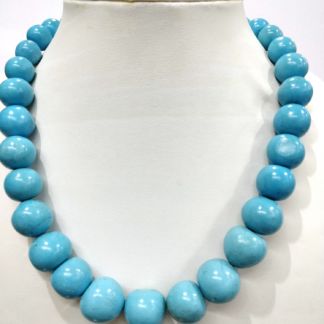 Turquoise Stone Big Round to Decending Round Ball Beautiful Mala