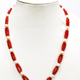 Coral and Pearl Mala