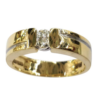 Single Diamond Stylish Ring Men