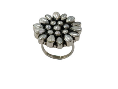 Pearl Ring in Silver