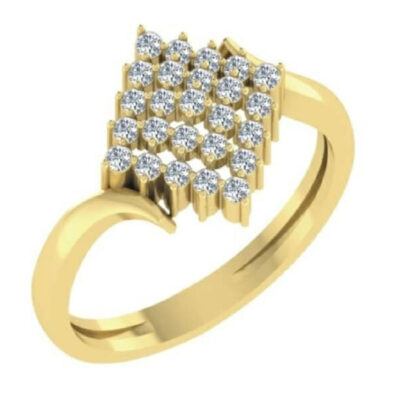 Rhombus Diamond Ring
