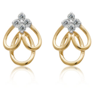 Three Loop Diamond Earrings