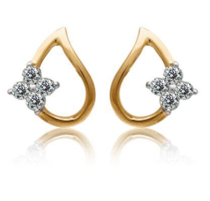 Triflower Drop Diamond Earrings