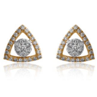 Triangle Star Diamond Earrings