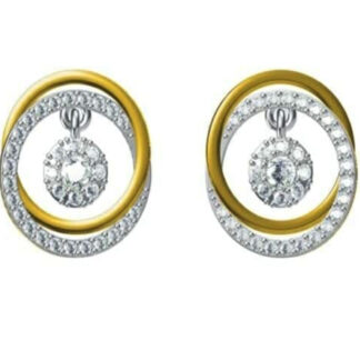 Double Cross Diamond Earrings
