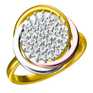 Swirl Diamond Ring