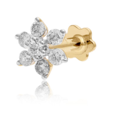 Hot Seven Diamond Nose Pin